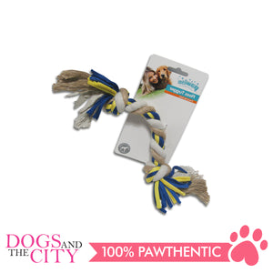Pawise 14851 Dog Toy Floss Tugger  2 knots Bone 30cm