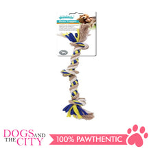 Load image into Gallery viewer, Pawise 14852 Dog Toy Floss Tugger 3 Knots Bone 27cm - All Goodies for Your Pet