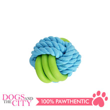 Load image into Gallery viewer, Pawise 14871 Twins Rope Ball Dog Toy 7cm