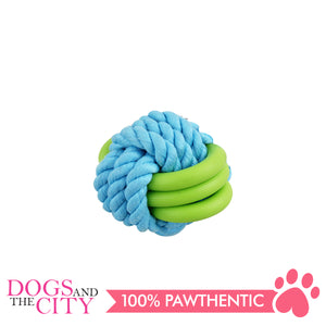 Pawise 14871 Twins Rope Ball Dog Toy 7cm