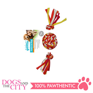 Pawise 14877 Fetch and Play Colorful Braided Dog Toy 20cm