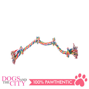 "Pawise 14891 36"" Rope Bone w/4 Knots—Multi Color Dog Toy - All Goodies for Your Pet"