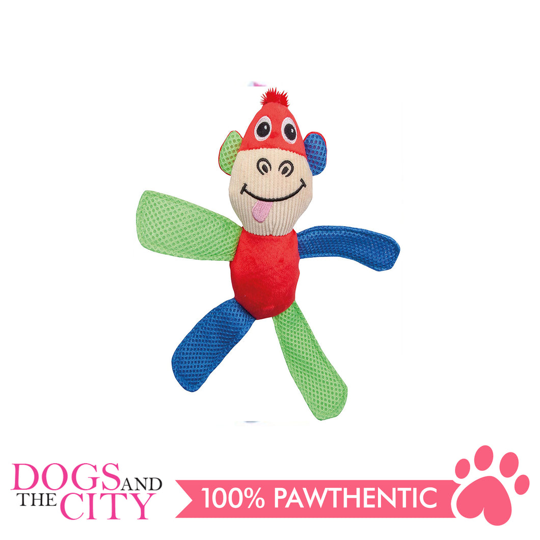 Pawise 15052 Vivid Life Fetch It Monkey Plush Pet Toy - All Goodies for Your Pet