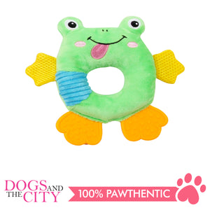 Pawise 15063 Vivid Life Hollow Frog Plush Pet Toy - All Goodies for Your Pet