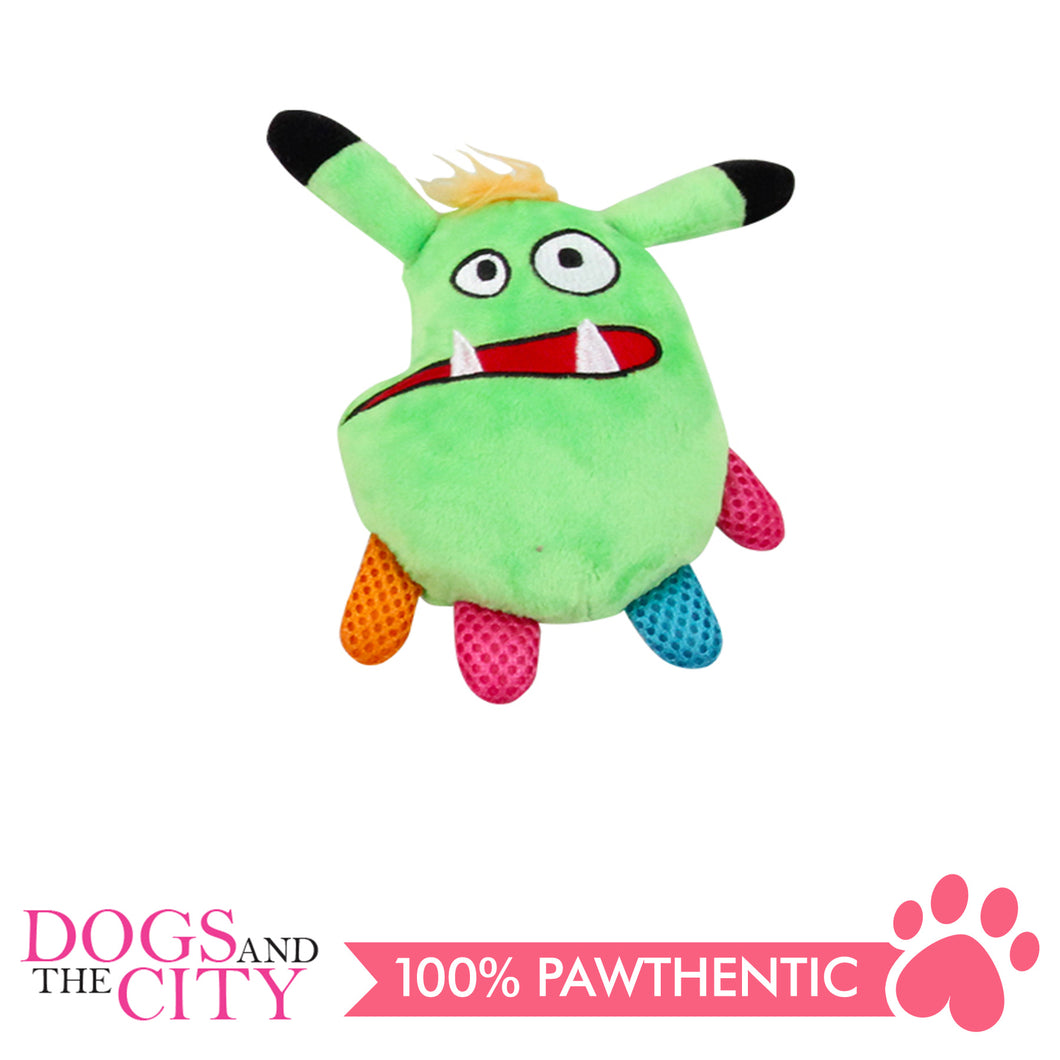 Pawise 15069 Vivid Life Mint Monster Plush Pet Toy - All Goodies for Your Pet