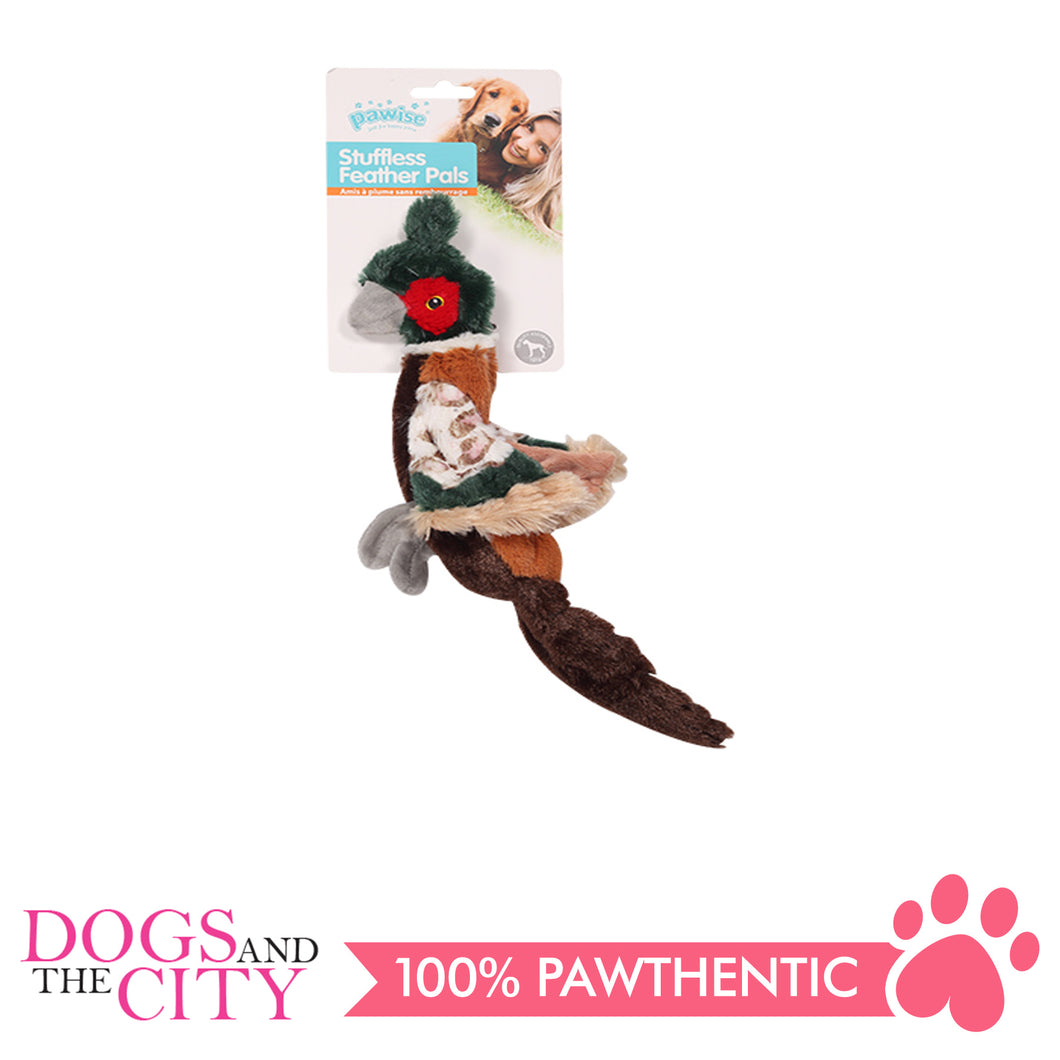 Pawise 15075 Stuffless Pheasant Plush Pet Toy Small - All Goodies for Your Pet