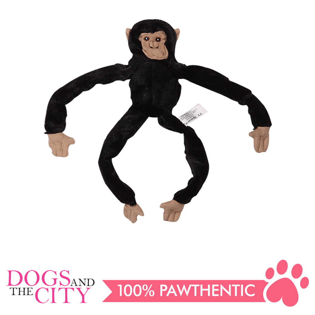 Pawise 15079 Stuffless Monkey Plush Pet Toy Small - All Goodies for Your Pet