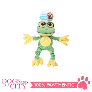Pawise 15093 Big Eyes Funky Frog Plush Pet Toy Small - All Goodies for Your Pet