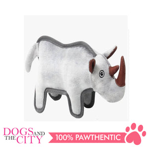 Pawise 15103 Tuff Plush Pet Toy Rhinoceros - All Goodies for Your Pet