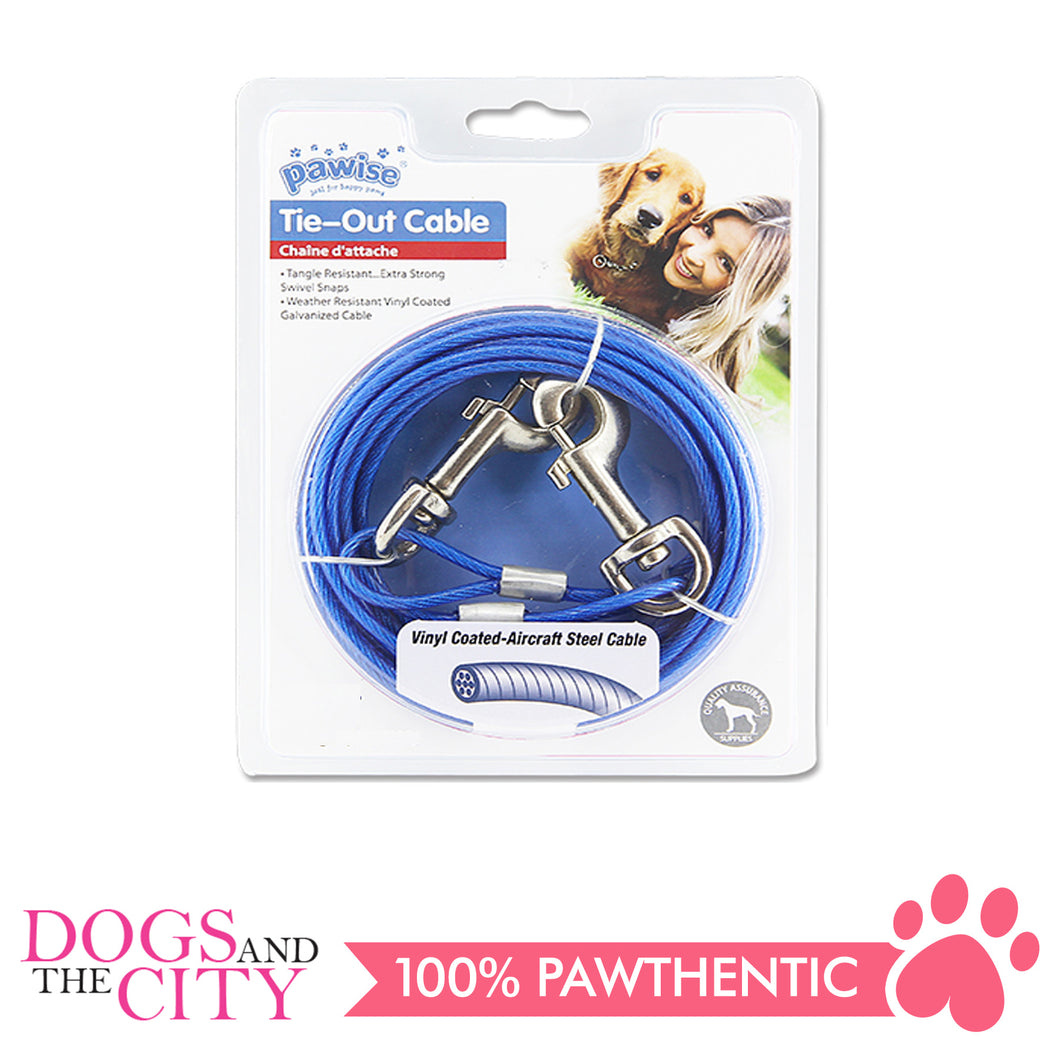 Pawise 11511 Tie Out Cable for Dogs 15ft up to 60lbs - All Goodies for Your Pet