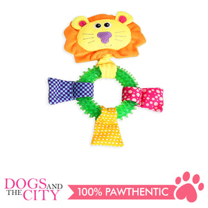 Pawise 15142 Long Neck Lion Plush Pet Toy - All Goodies for Your Pet
