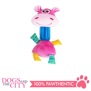 Pawise 15144 TPR Long Neck Hippo Plush Pet Toy - All Goodies for Your Pet