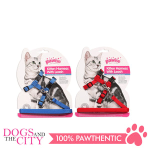 Pawise 28005 Kitten Harness  (22-35/30-52cm) w/1.2cm Leash Large - All Goodies for Your Pet