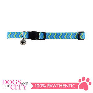 Pawise 28010 Cat Collar (20-30cm) Ripple Blue - All Goodies for Your Pet