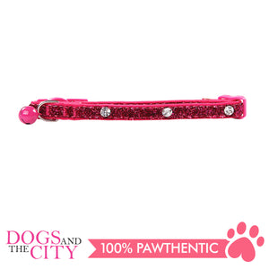 Pawise 28011 Cat Collar-(20-30cm) Diamond, Rose - All Goodies for Your Pet