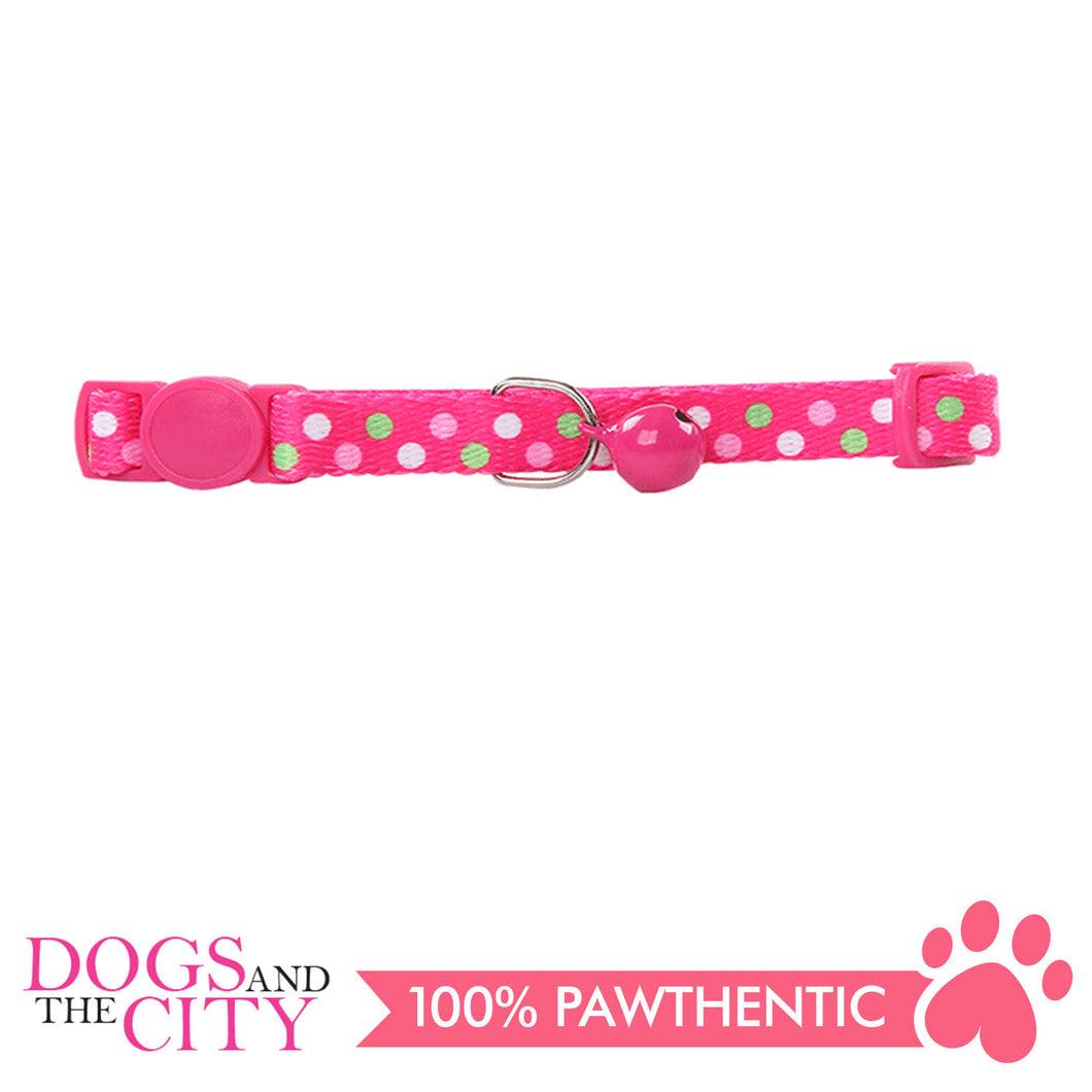 Pawise 28013 Cat Collar (20-30cm)-Polka Dots,Pink - All Goodies for Your Pet