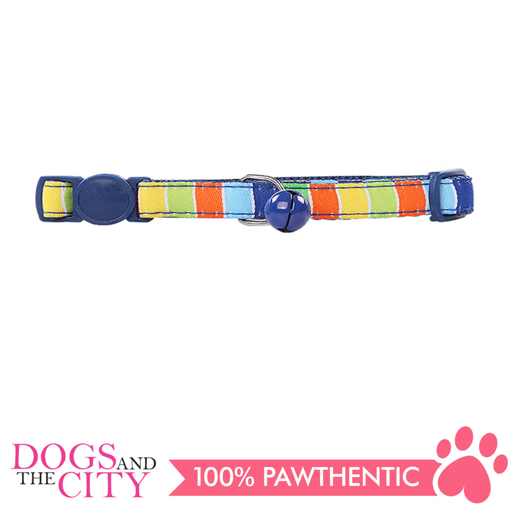 Pawise 28014 Cat Collar (20-30cm) Stripe,Blue - All Goodies for Your Pet