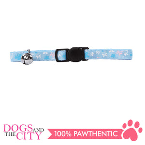 Pawise 28018 Cat Collar (20-30cm)  Butterfly, Blue - All Goodies for Your Pet