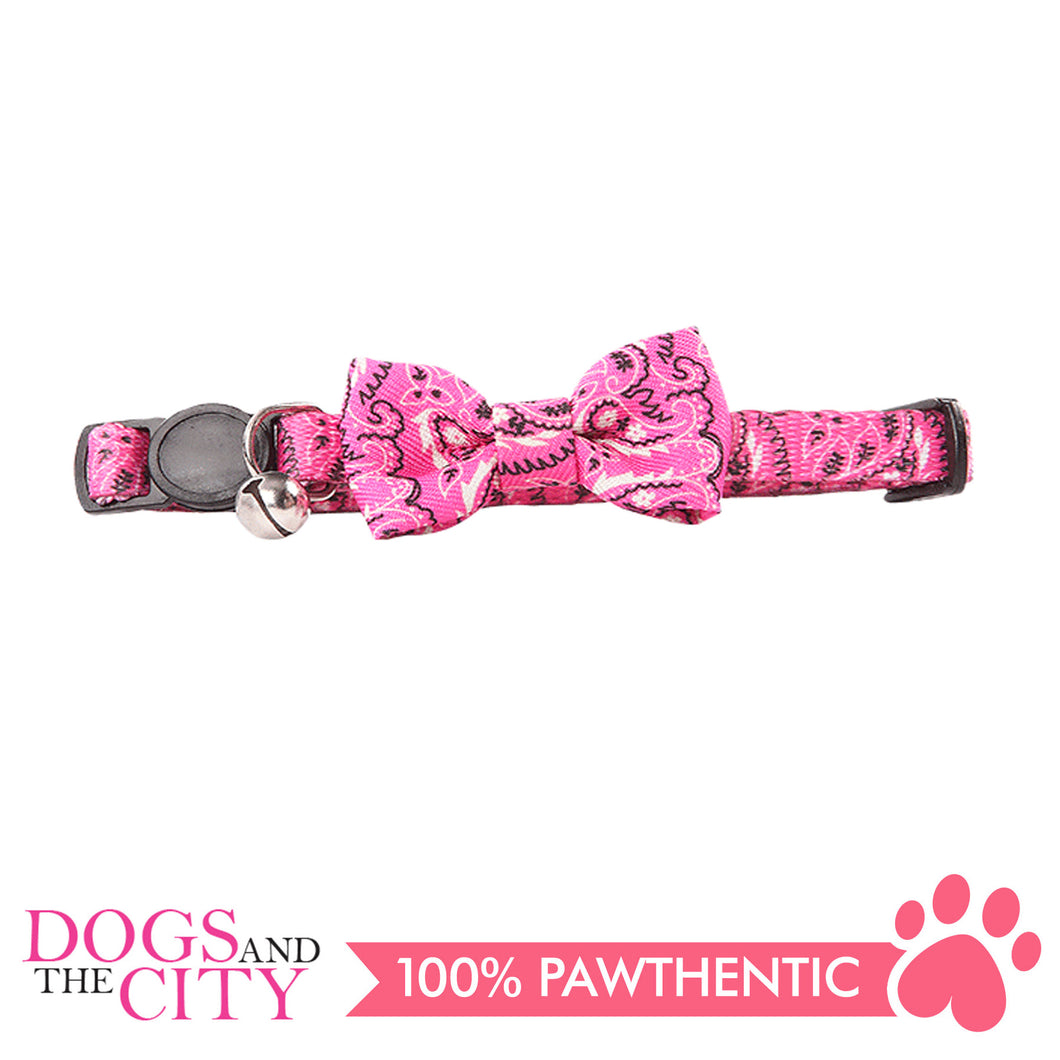 Pawise 28020 Cat Collar (20-30cm) w/Bowknot—Pink - All Goodies for Your Pet