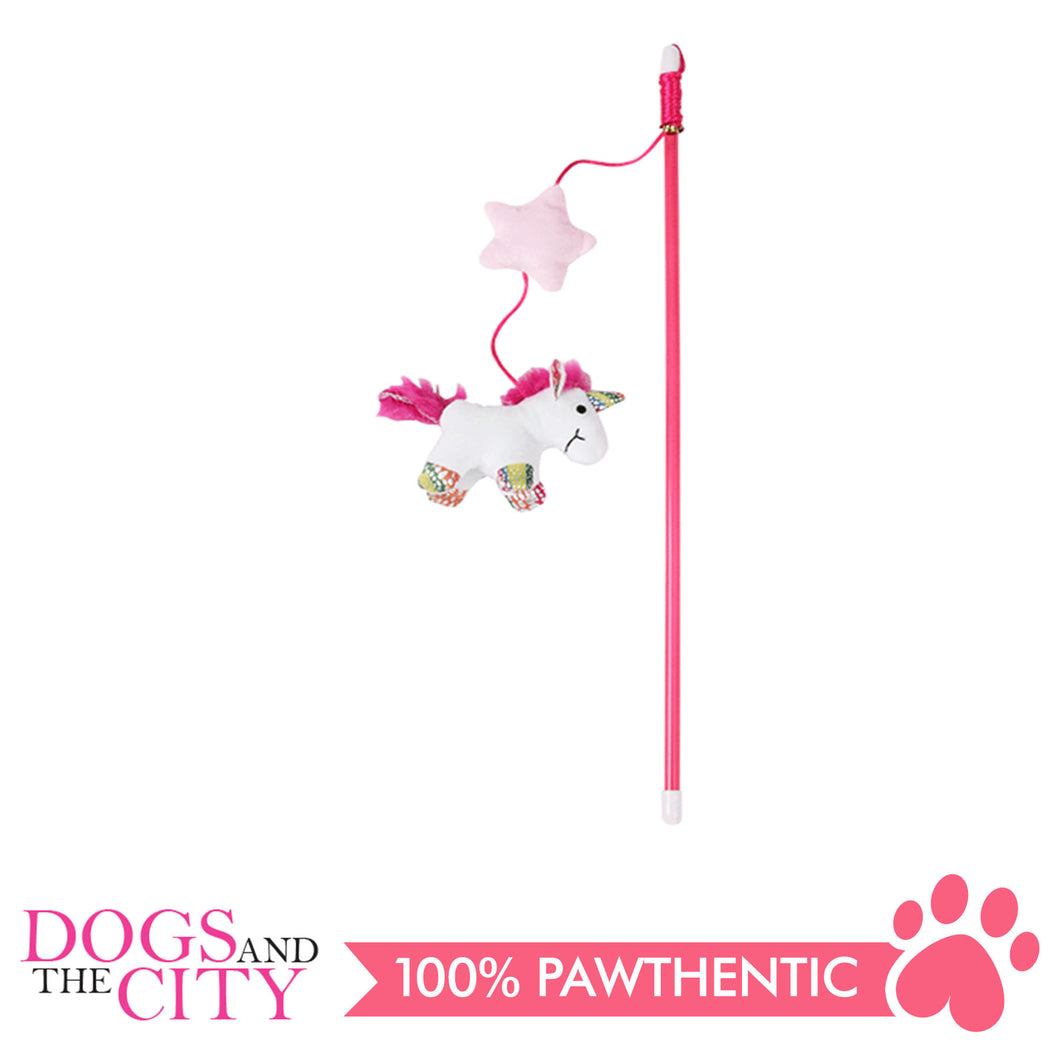 Pawise 28072 Cat Toy Unicorn Teaser with Catnip - All Goodies for Your Pet