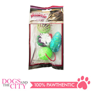Pawise 28204 Cat Toy Assorted Set 4/Pack - All Goodies for Your Pet