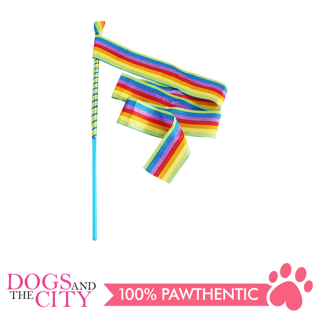 Pawise 28264 Cat Toy Rainbow Teaser w/tube - All Goodies for Your Pet