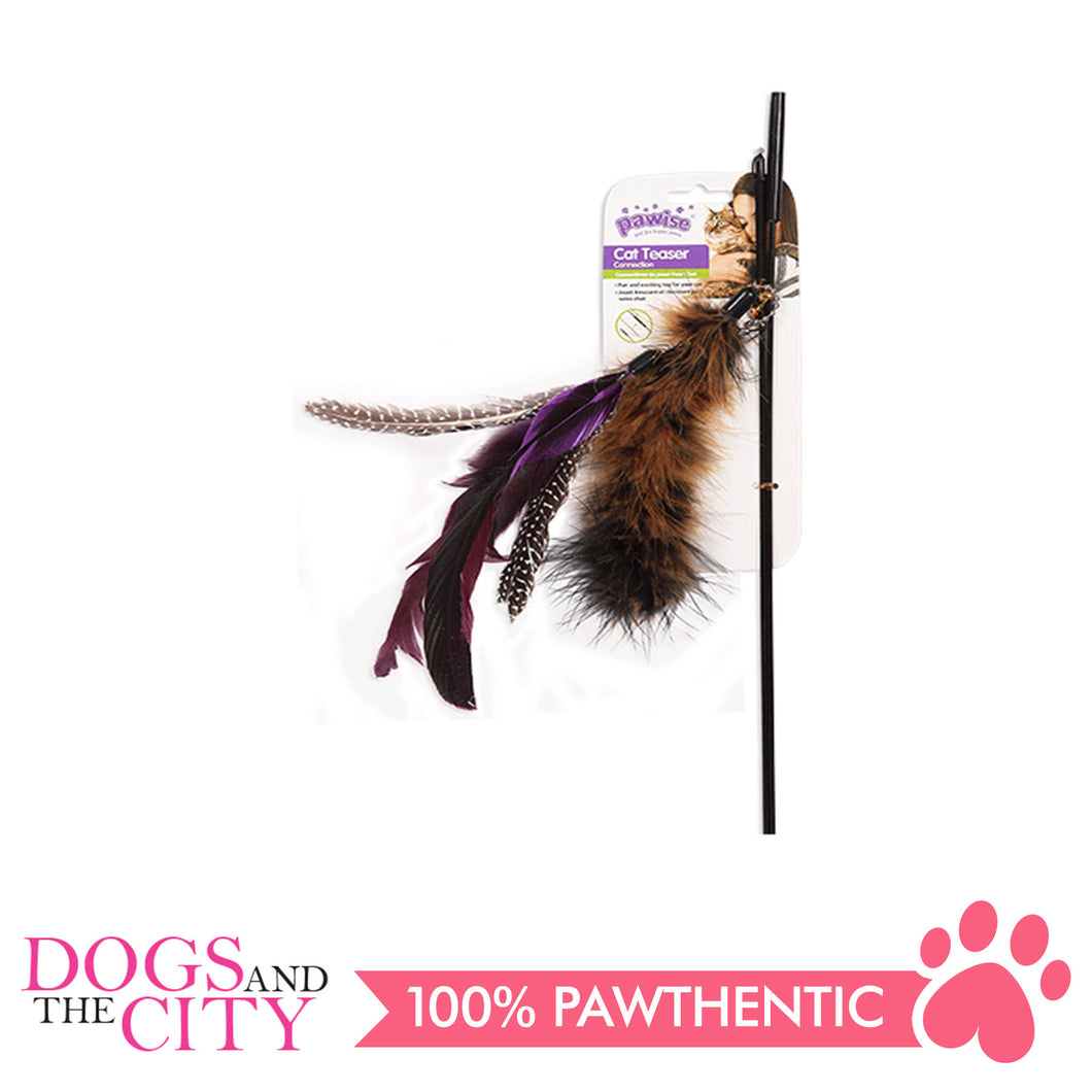 Pawise 28267 Cat Toy Teaser with Connection Pole and 3 pcs Toy - All Goodies for Your Pet