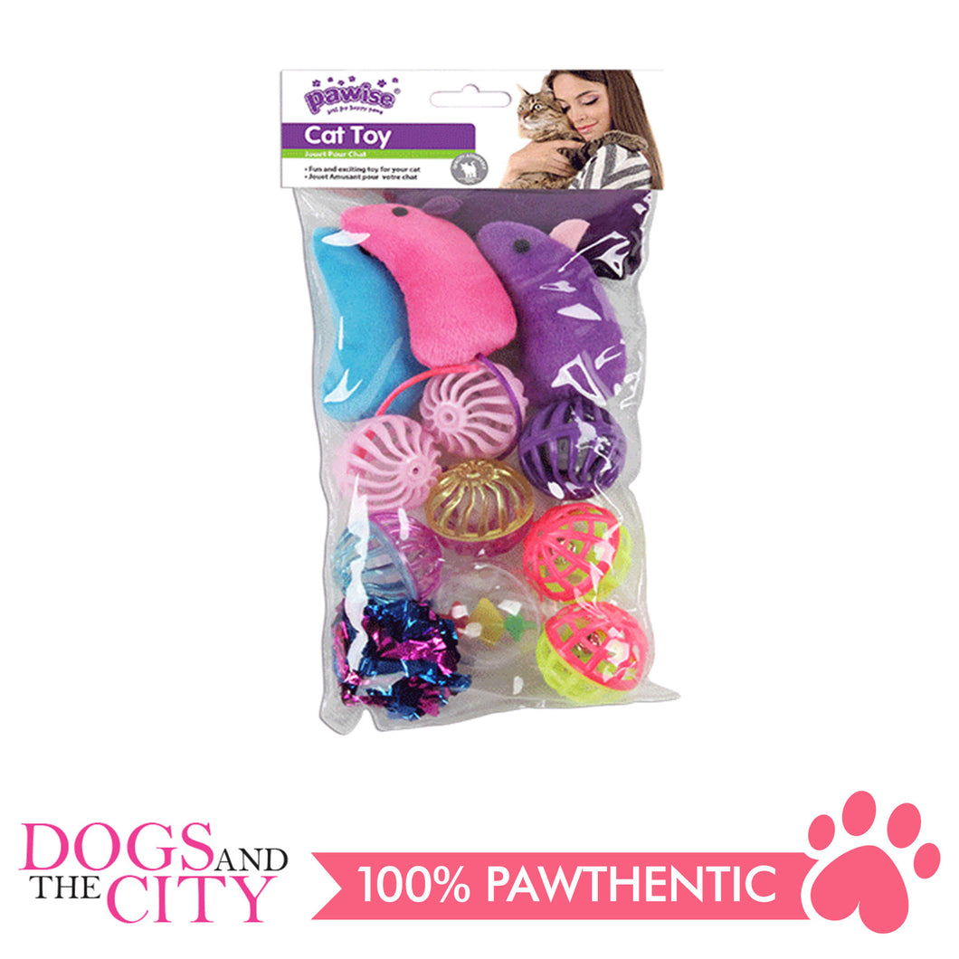 Pawise 28285 Ball & Mice Value Pack -13PCS - All Goodies for Your Pet