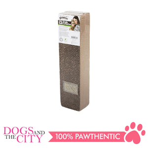 Pawise 28485 2PK Single Refill Cardboard Cat Scratcher 2 packs 47x11x8cm - All Goodies for Your Pet