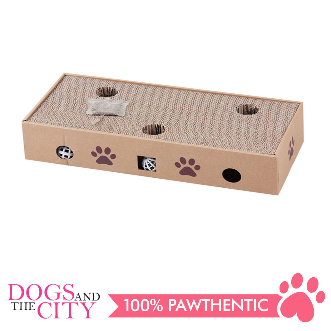Pawise 28487 2 in 1 Cat Scratching Box - All Goodies for Your Pet