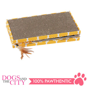 Pawise 28488 Cat 3 in 1 Foldable Scratcher - All Goodies for Your Pet