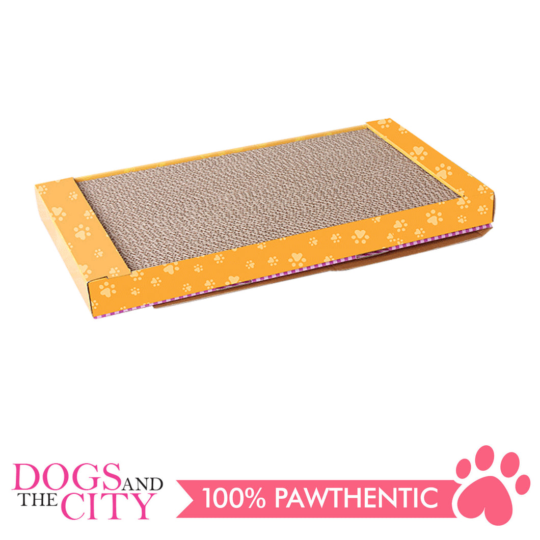 Pawise 28495 Corrugated Cat Scratcher with Catnip Narrow - All Goodies for Your Pet