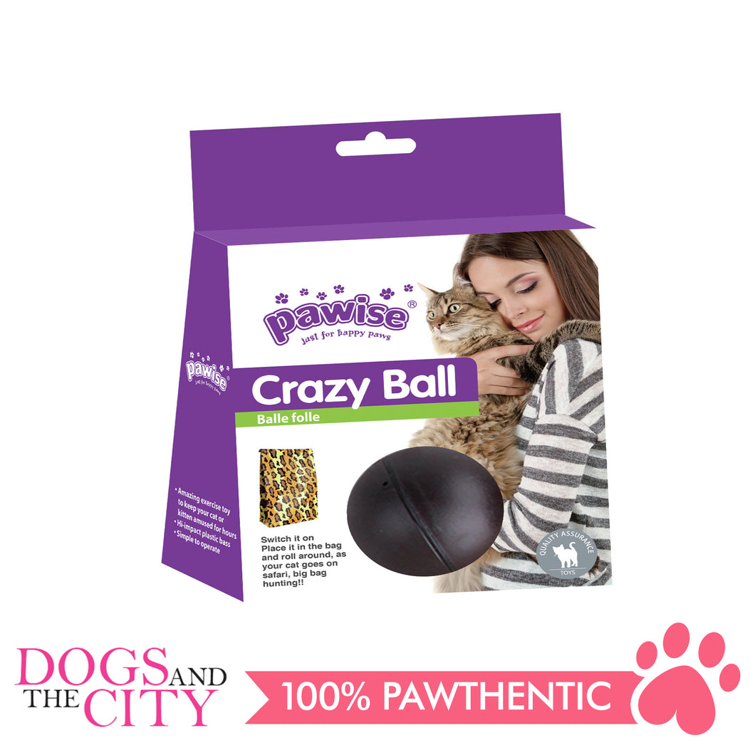 Pawise 28512 Cat Toy Crazy Ball 8.5cm - All Goodies for Your Pet
