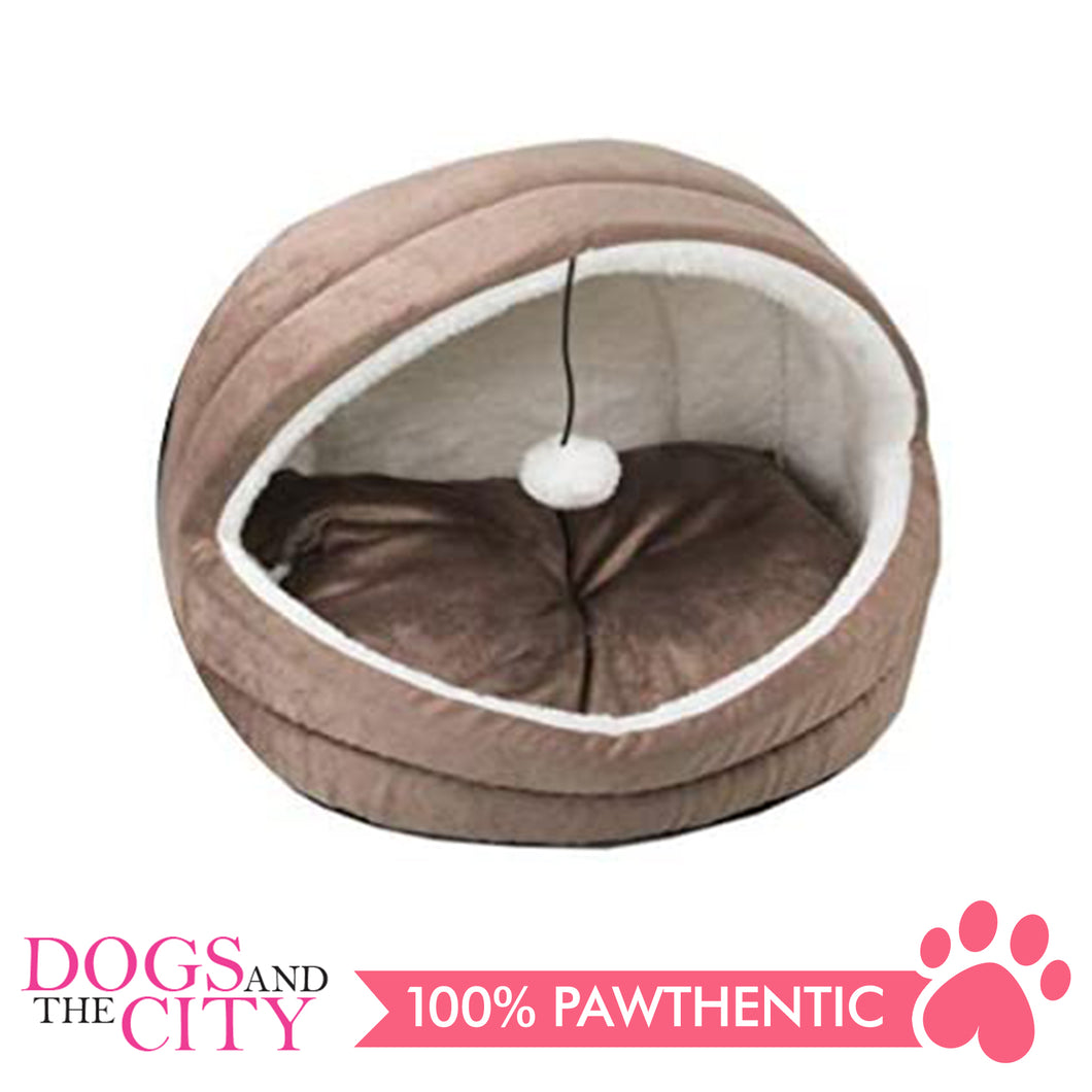 Pawise 28581 Cat Igloo Bed-Brown - All Goodies for Your Pet