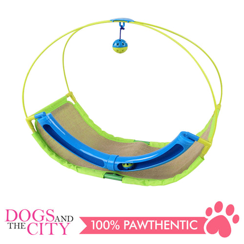 Pawise 28582 Rolling Scratching Hammock with Cat Toys For Cats and Kittens 29x25x9cm - All Goodies for Your Pet