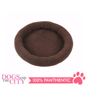 Pawise 28586 Cat Bolster Bed-Coffee 40cm - All Goodies for Your Pet