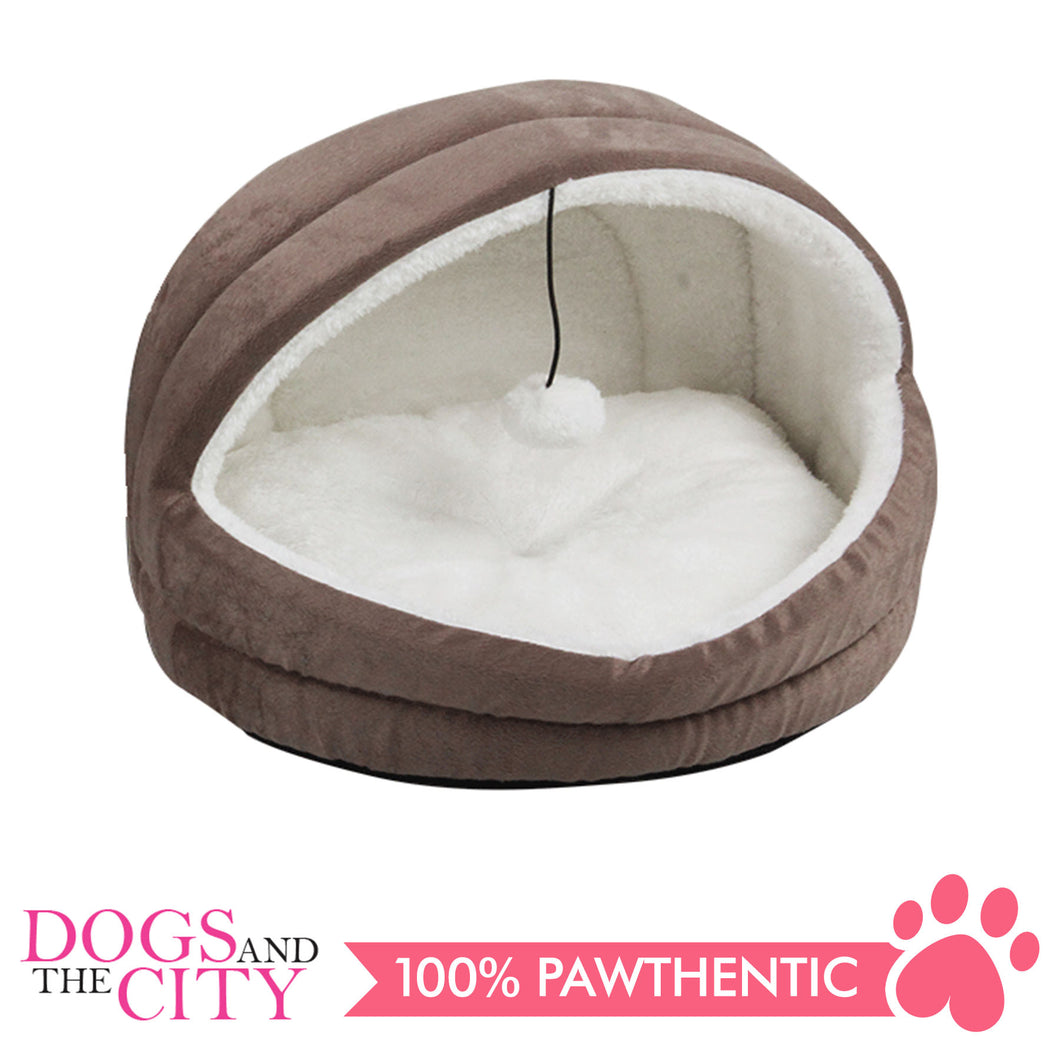 Pawise 28591 Cat Igloo Bed Gray 39x35x28cm - All Goodies for Your Pet