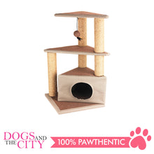Load image into Gallery viewer, Pawise 28604 Cat Scratching Post Cat's Den 40x40x84cm - All Goodies for Your Pet