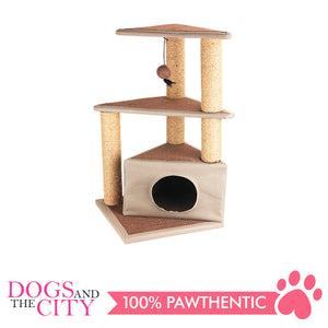 Pawise 28604 Cat Scratching Post Cat's Den 40x40x84cm - All Goodies for Your Pet
