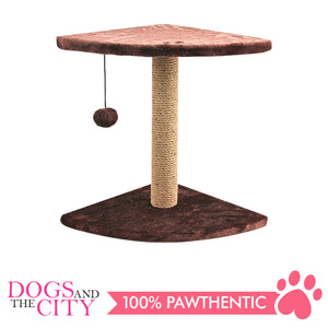 Pawise 28612 Cat Corner Scratching Post - Fred 30x30x44cm - All Goodies for Your Pet