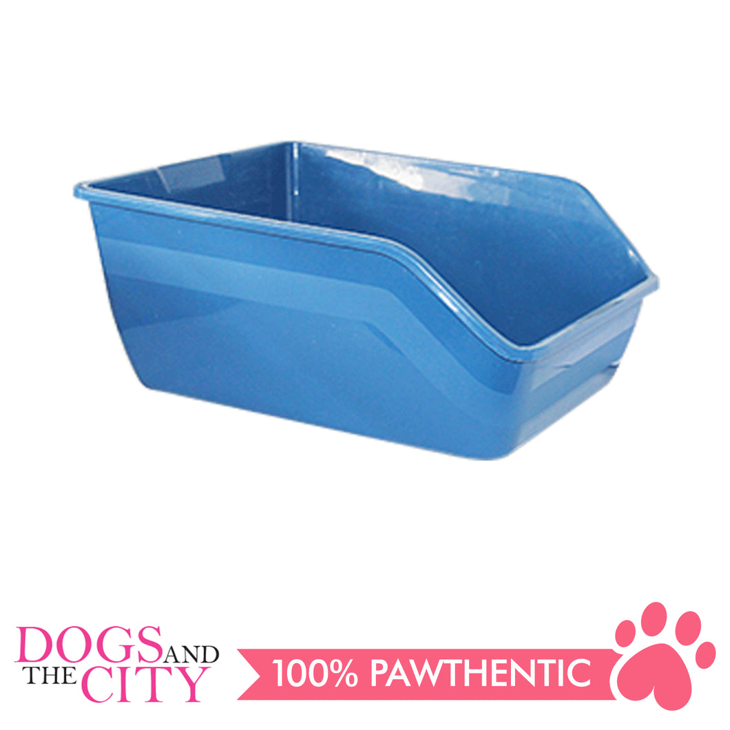 Pawise 28936 Cat High-back Litter Pan White 61x45x25cm - All Goodies for Your Pet