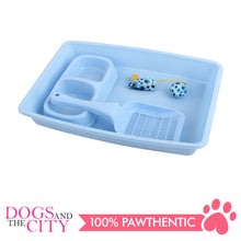 Load image into Gallery viewer, Pawise 28947 4-Piece Cat Starter Kit Blue - All Goodies for Your Pet