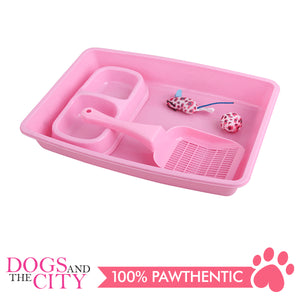 Pawise 28948 4-Piece Cat Starter Kit Pink - All Goodies for Your Pet