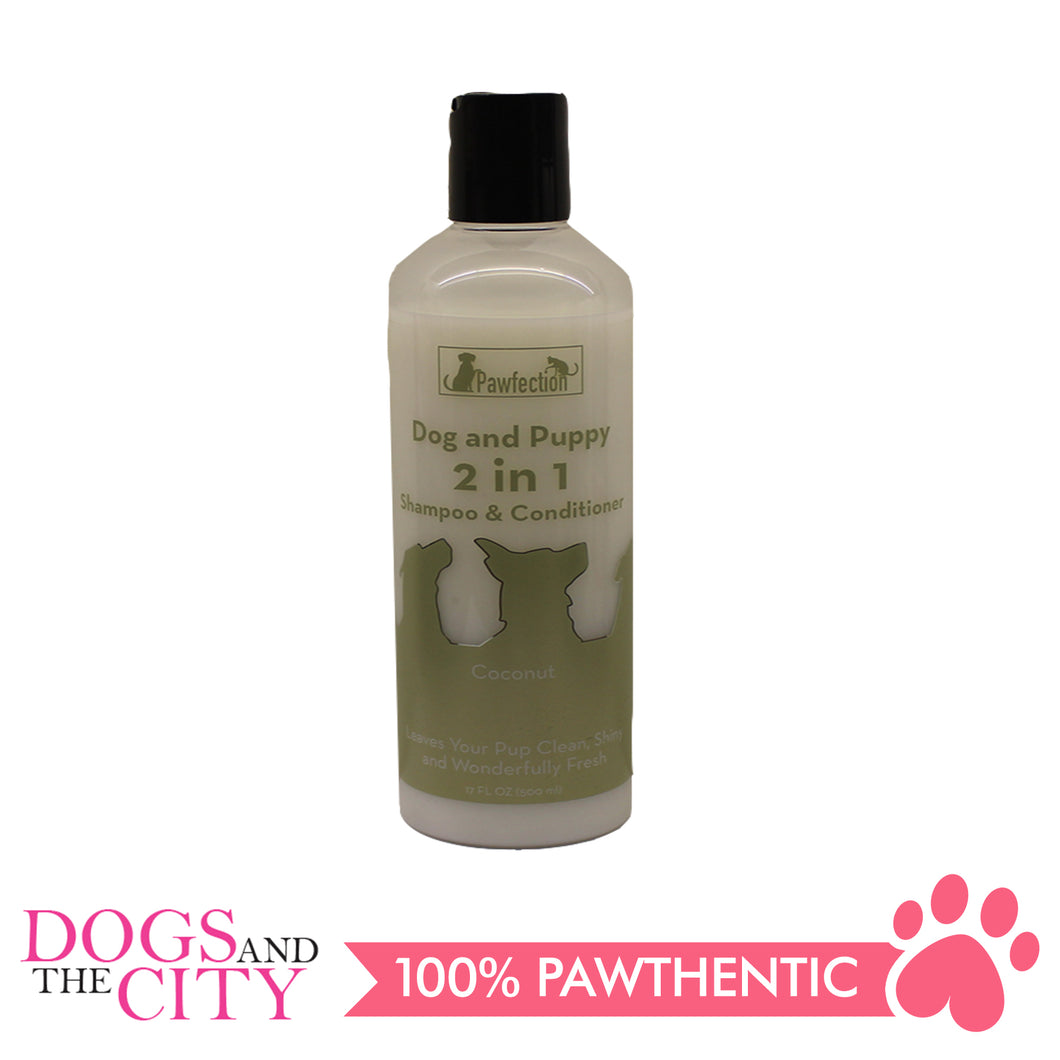 Pawfection 2in1 Dog and Puppy Shampoo and Conditioner Coconut 500ml - All Goodies for Your Pet