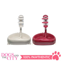 Load image into Gallery viewer, JX Pet Water Feeder with Double Food Bowl for Dogs and Cats