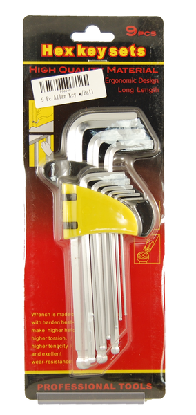 9 Pc Allan Key w/Ball	PC6040