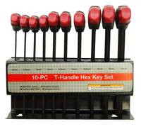 Deluxe T-Handle Hex Key 10pc Set	PC6054