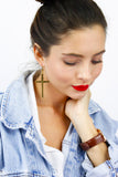Bronze Large Cross Statement Earrings