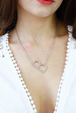 Silver Letter 'B' Monogram Chain Necklace