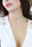 Rose Gold Letter 'D' Monogram Chain Necklace